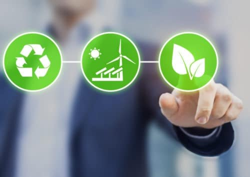 Concept about sustainable development, ecology and environment protection