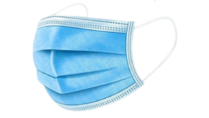 Walgreen Health Solutions 3 ply Mask side view profile